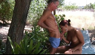 Grandpa's fuck teacher is a horny juvenile babe