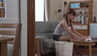 Best Japanese floozy Ichika Kanhata in Excited masturbation, college JAV movie scene