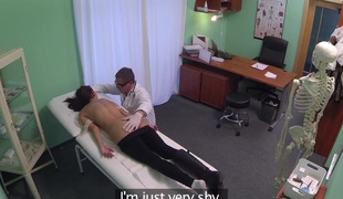 Young woman with mind blowing body caught on camera getting drilled by doctor