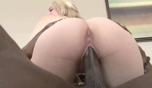 Cute college girl Ashley Stone takes some dark dick