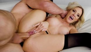 Cougar invites a younger dude over to use his large cock