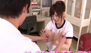 Pea-soup japanese teen fingered