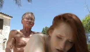 Fruitful old dick satisfy deep abandoned redhead