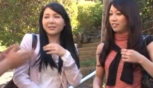 Erotic twat pounding ffm triple make believe with two influential Asian women