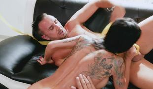 The best birth day of seasoned fucker with bewitching brunette hair