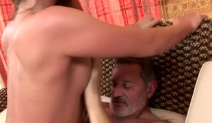 Teen Cathy Heaven has nice screw with older man