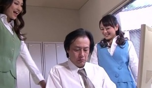 Horny Japanese chicks Azumi Mizushima, Natsuki Anju in Exotic JAV censored Fetish, Hairy scene