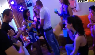 Eager college students fuck at a sexy party