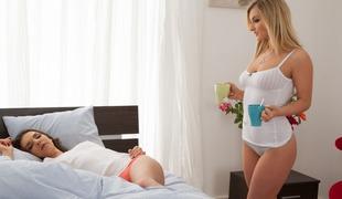 Henessy & Jemma Valentine in Hot Morning - SapphicErotica