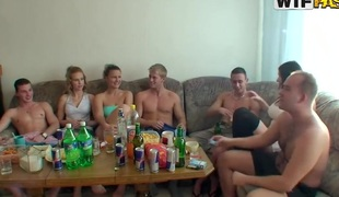 Sexy college sex party with some chicks