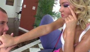 Adorable Dakota Skye fucked in a catch with the addition of slutty high heels