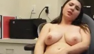 Fat Tit Non-professional Teen rubs first of all chair