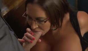 Danny D is having real sex pleasure with breasty Emma Butt at work