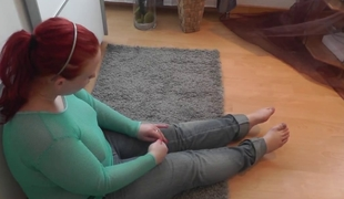 Plump redhead legal age teenager gets it in the butt and on the face