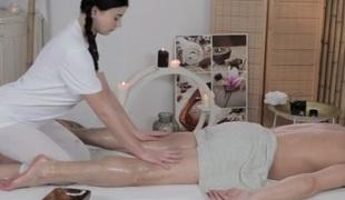 Lucy Li & Steve in Lucy Li On Steve - MassageRooms