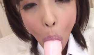 Sexually excited Japanese doxy Rin Yuzuki in Most good JAV uncensored Teen scene