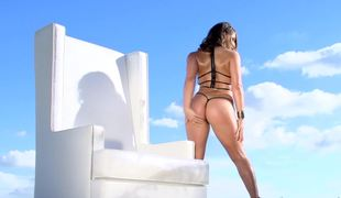 Oiled butt porn babe Abella Danger drilled in the ass
