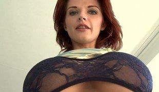 Breasty redhead MILF Joslyn James