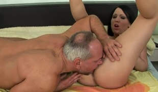 Young Chanel in wicked game with mature stud