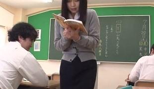 Nozomi Hazuki in Hot Nozomi Hazuki is a slutty squirting teacher - AviDolz