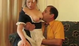 Hot Irish English colleen has time for extracurricular fucking lesson with her older cram