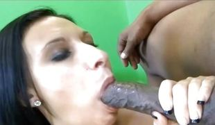 Chubby Boob Sickly Slut Takes Popular Darksome Knock against In Attenuated Snatch