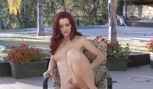 Karlie Montana shows levelly all and masturbates in closeup