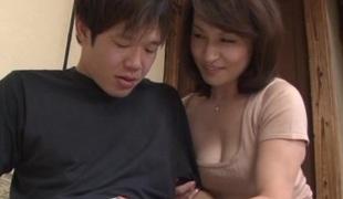 Mature Japanese Valentino Yuuri Saejima copulates sexy dude