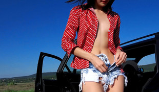 Nikki Stills in Tall Hitchhiker's Soaked Bawdy cleft - StrandedTeens