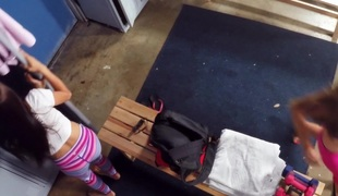Kaylee Jewel & Michelle Martinez in Nasty Burglars Share a Cock - PervsOnPatrol