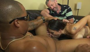 Winning MILF blacked in front of her powerless spouse